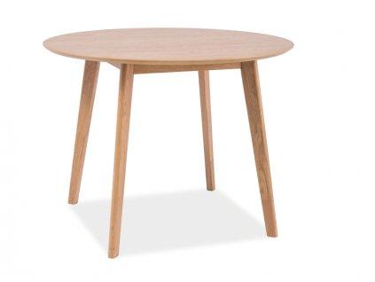 Jídelní stůl, dub, MOSSO II 100x100