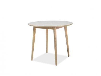 Jídelní stůl NELSON s deskou v dekoru dub medový 90X90