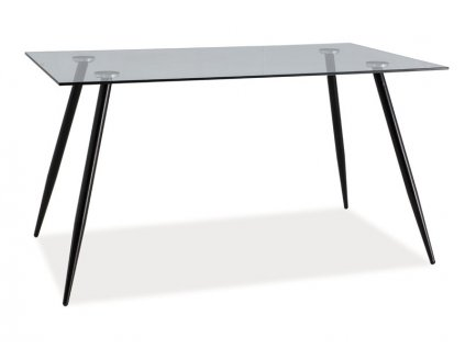 Jídelní stůl, sklo / černá, NINO 140X80
