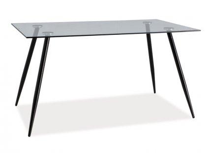 Skleněný jídelní stůl NINO 140X80