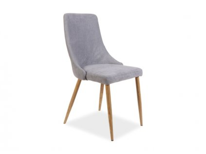Šedá židle NOBEL
