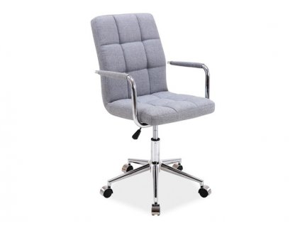 Šedá kancelářská židle Q-022