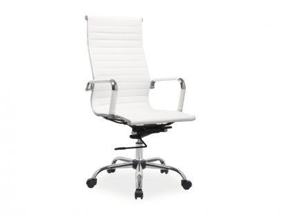 Bílá kancelářská židle Q-040