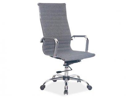 Šedá kancelářská židle Q-040