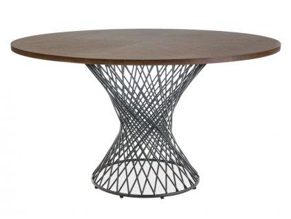 Jídelní stůl s deskou v dekoru ořech ORLANDO 137X137