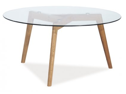 Skleněný konferenční stolek OSLO L2 80X80