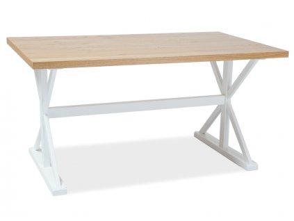 Jídelní stůl, dub / bílá, OXFORD 150x90