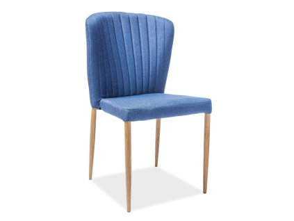Židle, tmavě modrá / dub, POLLY