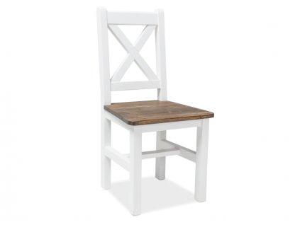 Židle, hnědý vosk / bílý vosk, POPRAD