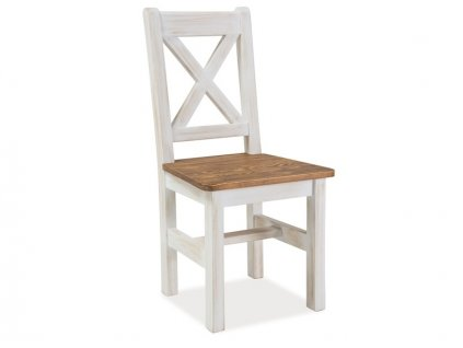 Medově hnědá masivní židle POPRAD