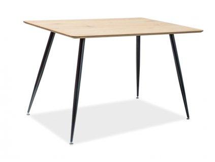 Jídelní stůl, dub / černá, REMUS 120X80