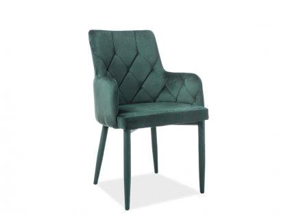 Židle, zelený samet, RICARDO