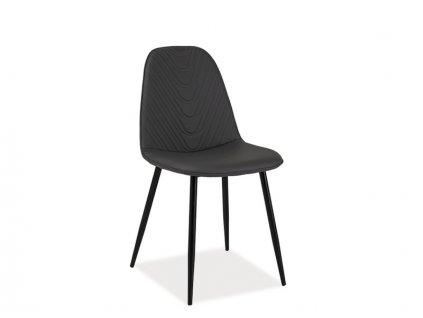 Židle, šedá / černá, TEO A
