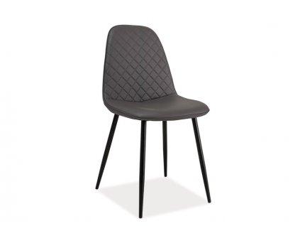 Židle, šedá / černá, TEO C