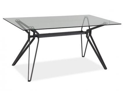 Jídelní stůl, transparentní / šedá, TIVOLI 160X90