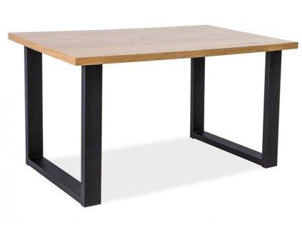 Konferenční stolek, přírodní dub / černá, UMBERTO B 110x60