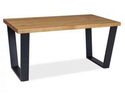 Černý konferenční stolek s deskou v dekoru dub VALENTINO B 110x60