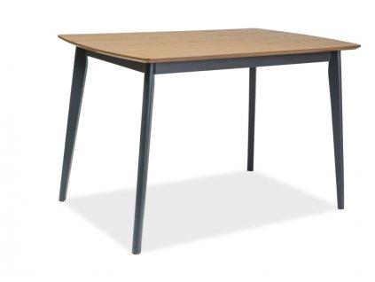 Grafitový jídelní stůl s deskou v dekoru dub VITRO 120X75
