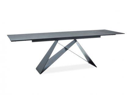 Jídelní stůl, černý mat / černá, WESTIN I  (160-240)X90