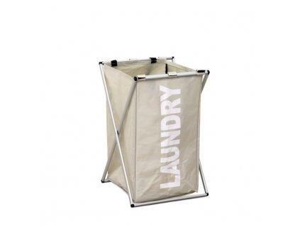 Šedobéžový látkový koš na prádlo LAUNDRY TYP 1
