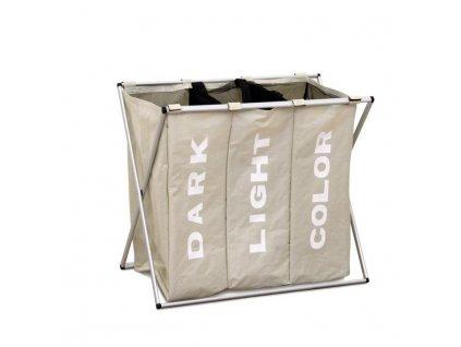Šedobéžový látkový koš na prádlo LAUNDRY TYP 3