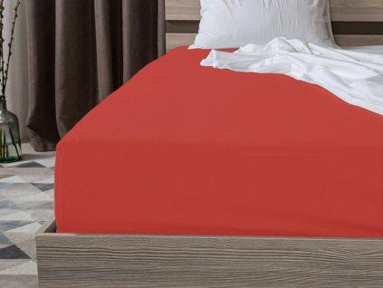 Jersey bavlna cervene