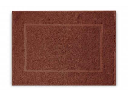 Koupelnová přednožka hotelová rohožka bavlněná froté hnědá