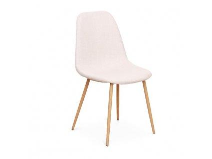 Židle, krémová / buk, LEGA
