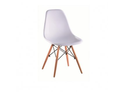 Židle, bílá / buk, CINKLA 2 NEW