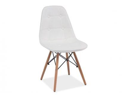 axelbub krzeslo axel buk bialy ekoskora