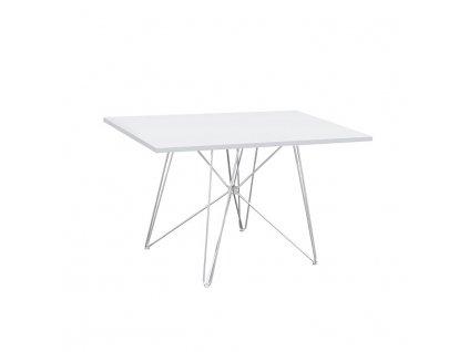 Bílý jídelní stůl ARTEM, vysoký lesk HG