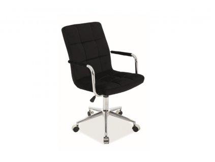 Kancelářská židle Q 022 velvet černá