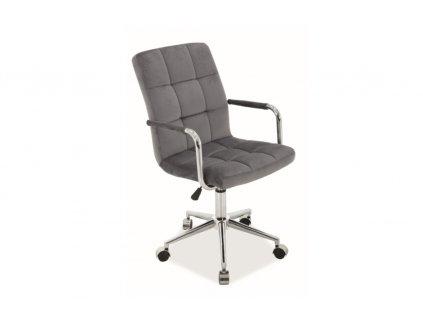 Kancelářská židle Q 022 velvet šedá