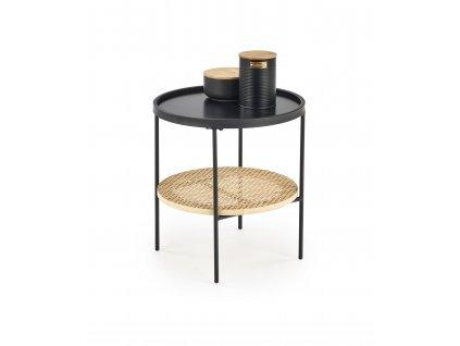 Černý konferenční stolek KAMPA 45x45