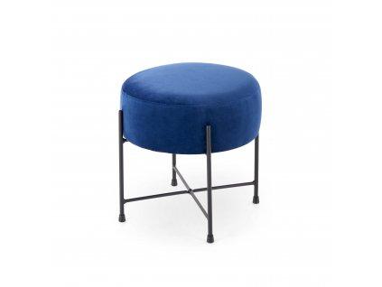 Tmavě modrý taburet NIVA