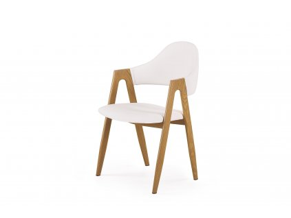 Bílá židle K247 z lakované oceli