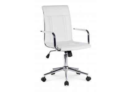 Bílá kancelářská židle PORTO 2 z Eko kůže