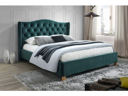 postel aspen 160x200 cm latka zelena