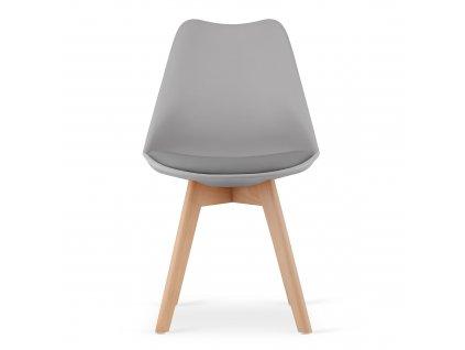 Židle, šedá / buk, BALI NEW