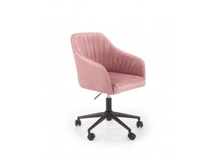 Růžové kancelářské křeslo FRESCO VELVET