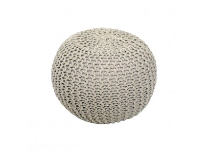 Krémový pletený taburet GOBI TYP 1
