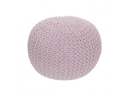 Růžový pletený taburet GOBI TYP 1
