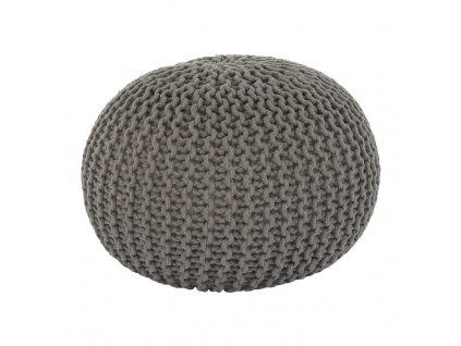 Hnědošedý pletený taburet GOBI TYP 2