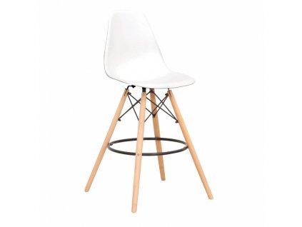 Bílá barová židle CARBRY