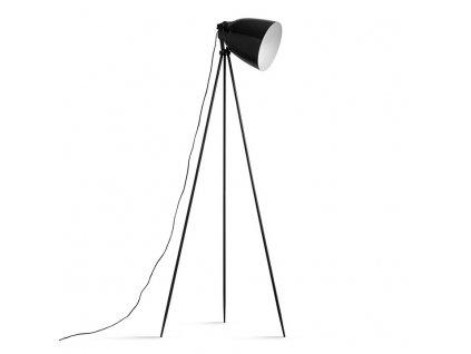 Černá kovová stojací lampa CINDA TYP 5