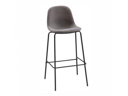Barová stolička, tmavě šedá / kov, MARIOLA NEW