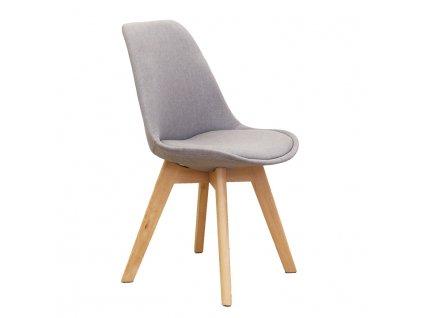 Šedá židle LORITA