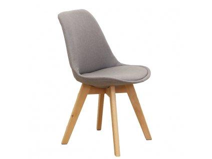 Šedohnědá židle LORITA