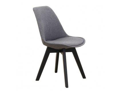 Tmavě šedá židle LORITA