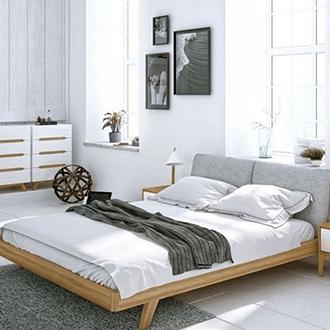 Hálószoba skandináv stílusban